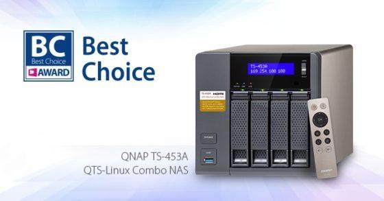 TS-453A galardonado en la COMPUTEX Best Choice Award 2016