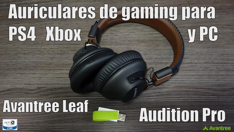 Auriculares De Gaming Para Ps4 Y Xbox Avantree Leaf Y