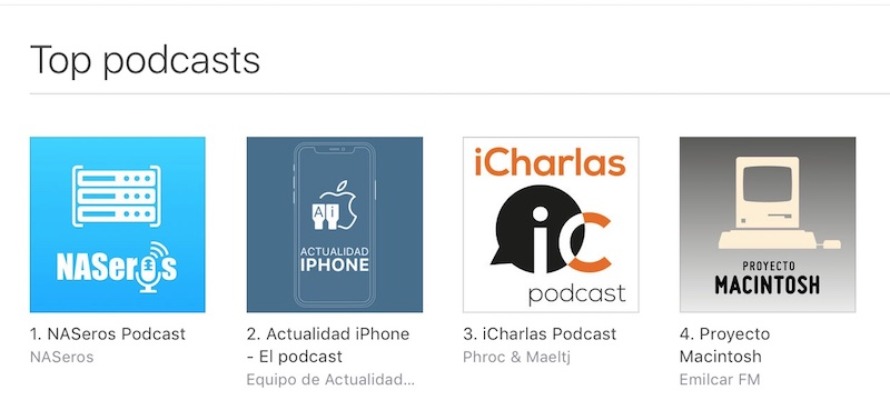 Evolucion de NASeros podcast itunes gadgets