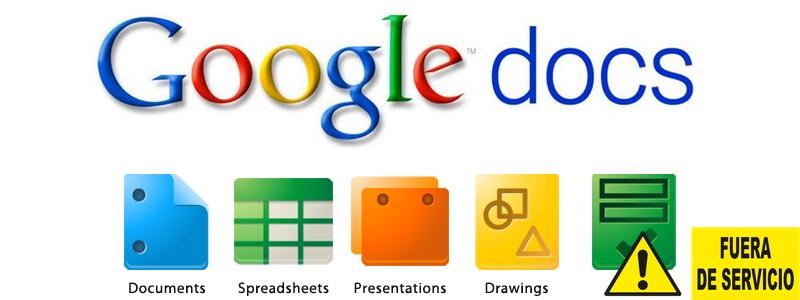 Google Docs fuera de servicio