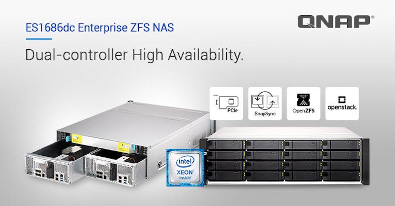 QNAP Enterprise ZFS NAS ES1686dc