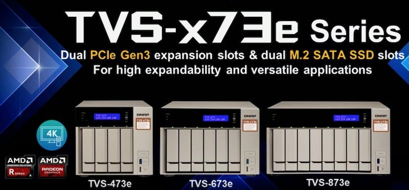 QNAP en el CES 2018 TVS-x73e