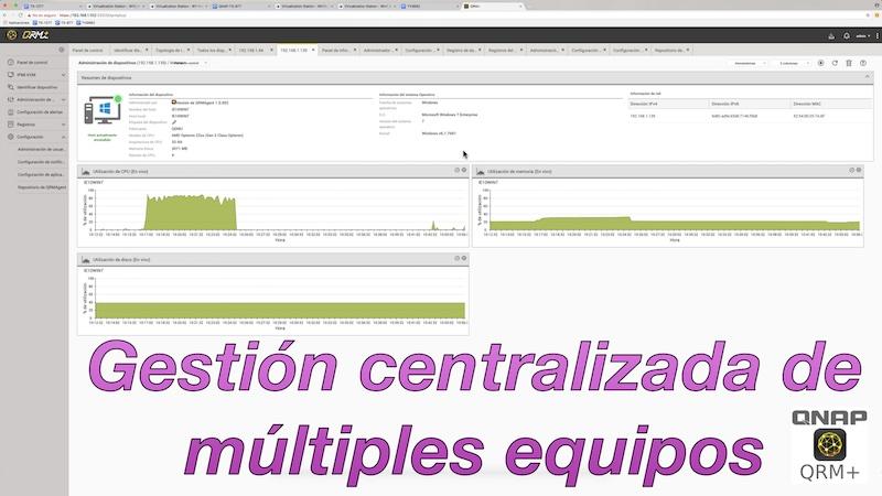 QRM+ gestión centralizada de multiples equipos
