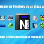 Cómo pasar de disco simple a RAID 1 en Synology