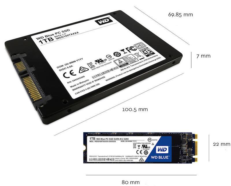 """SSD M.2 dimensiones 2,5"""""""
