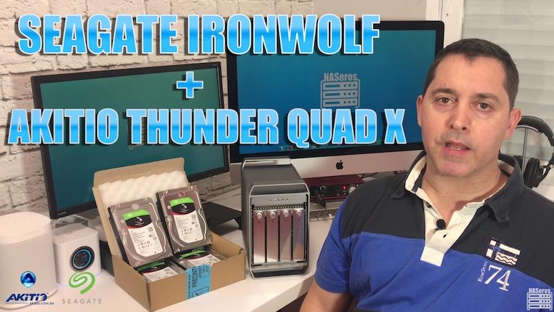 Seagate Ironwolf Akitio Thunder Quad X