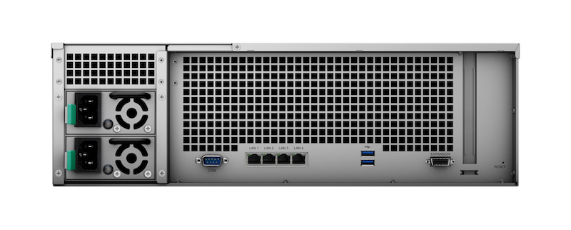 Synology RS2818RP+ trasera