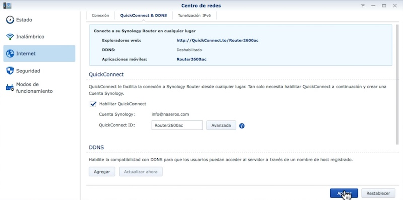 Synology RT2600ac-acceso-remoto