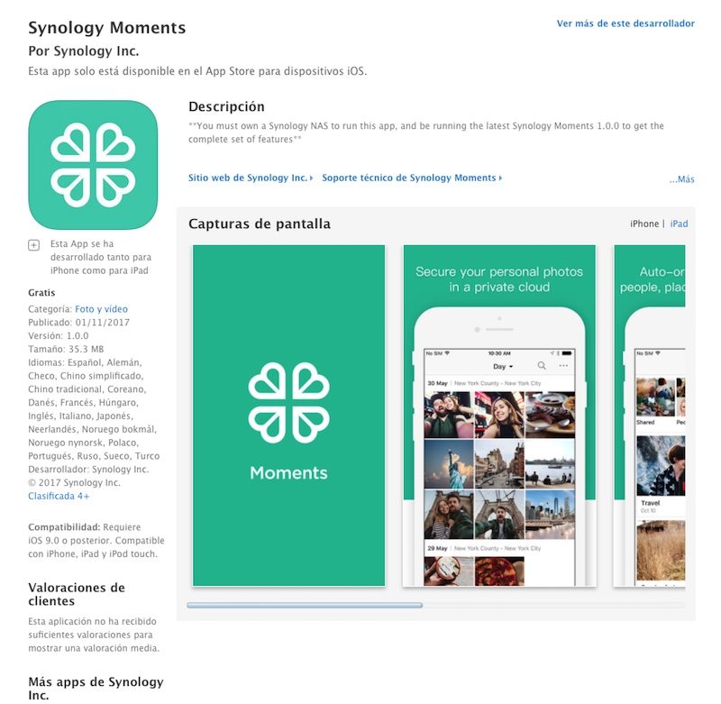 Synoloy Moments ios