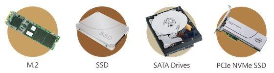 Tipos de discos soportados