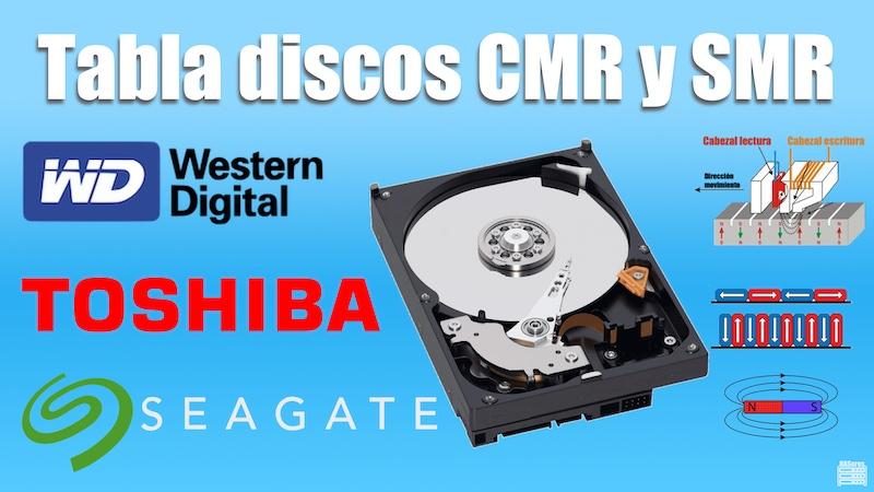 Tabla discos CMR y SMR por marcas