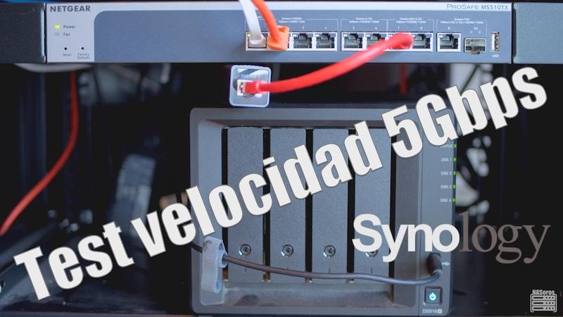 Test de velocidad 5Gbps en un NAS Synology