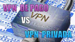 VPN de pago vs VPN privada. Pros y contras