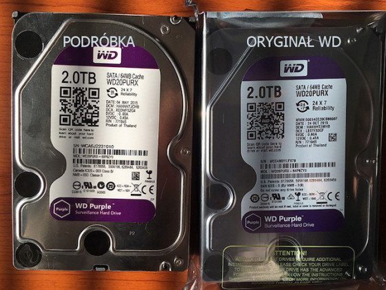 WD falsos Purple