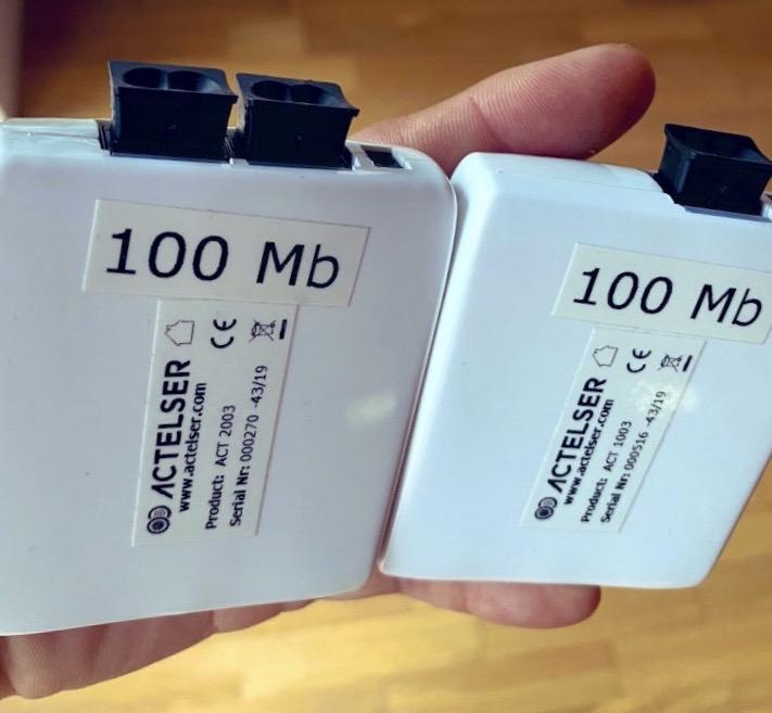 actelser conversor medios fibra optica plastica 100 mbps
