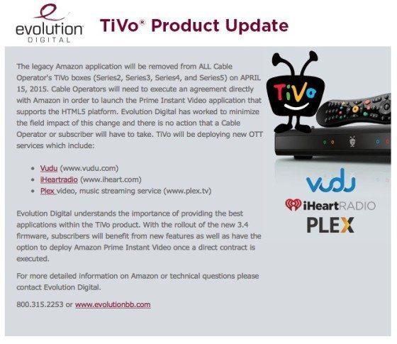 Comunicado TiVo Plex