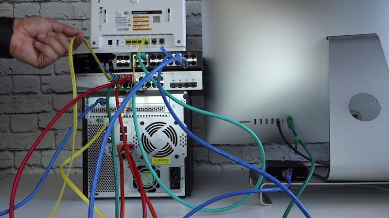 Conexión directa 10G a través de 2 switchs