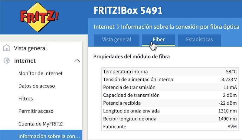 datos gpon Fritzbox 5491