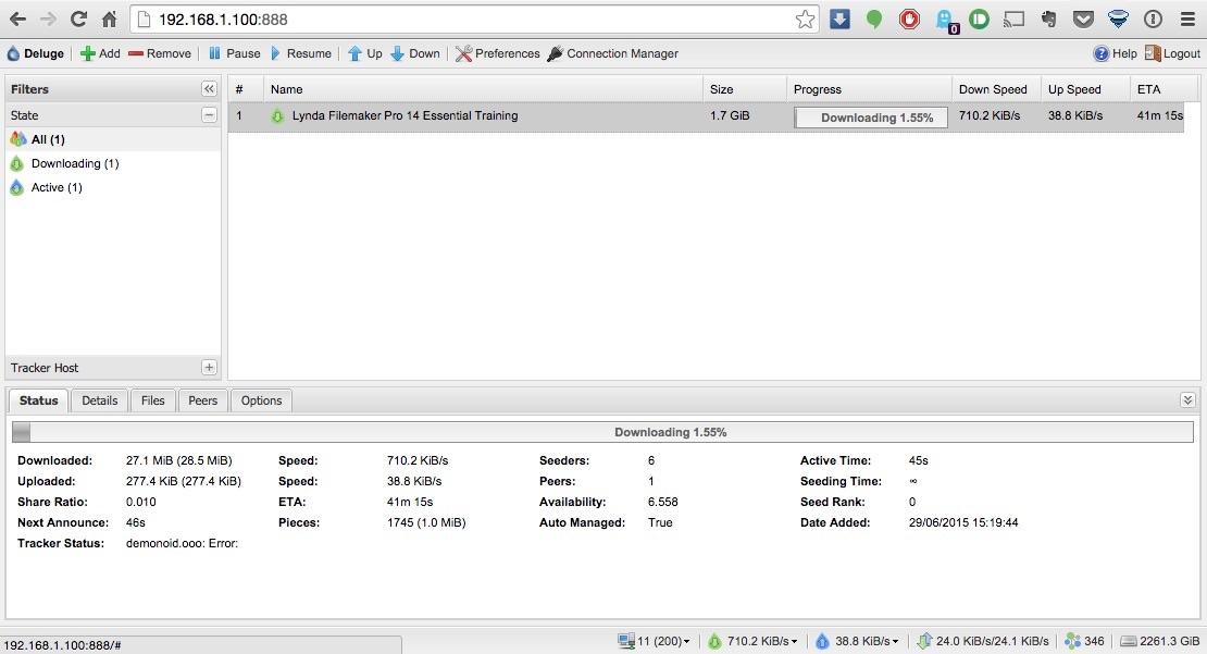 Instalando el cliente de torrent Deluge en tu NAS | NASeros