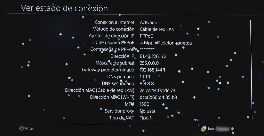 estado de la conexión NAT 1 en Playstation