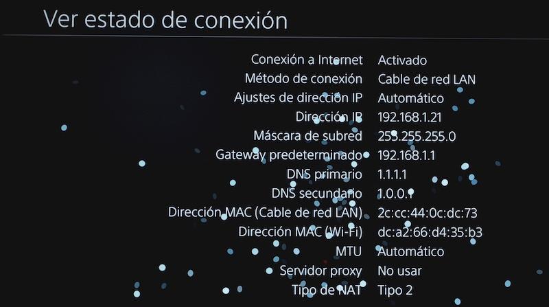 estado conexión NAT 2 playstation