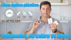 fibra óptica plástica (POF)