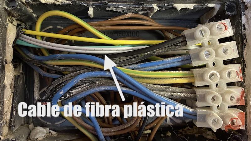 fibra plástica tubos electricidad