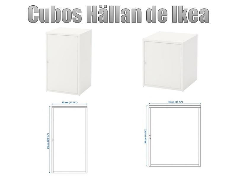 cubos hallan de Ikea para montar unrack casero para servidores