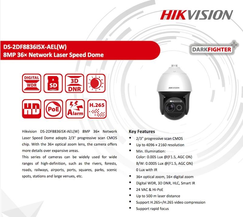 hikvision camara h265