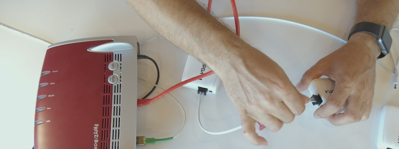 instalación fibra kit básico actelser