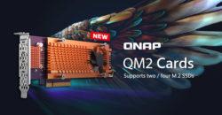 nuevas tarjetas QM2 de QNAP