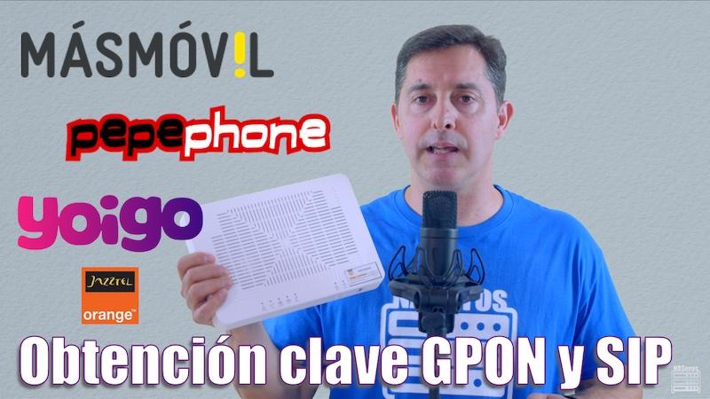 obtención clave gpon y SIP sagemcom Fast-5655v2