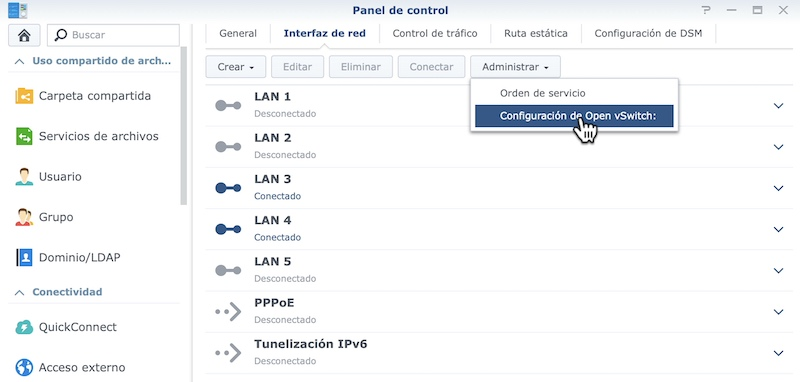 open vswitch synology