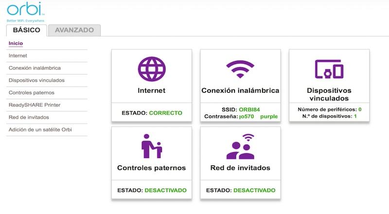 Orbi de Netgear conectado a un router en modo bridge configuración correcta