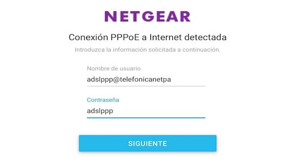 Orbi de Netgear conectado a un router en modo bridge asistente ppoe