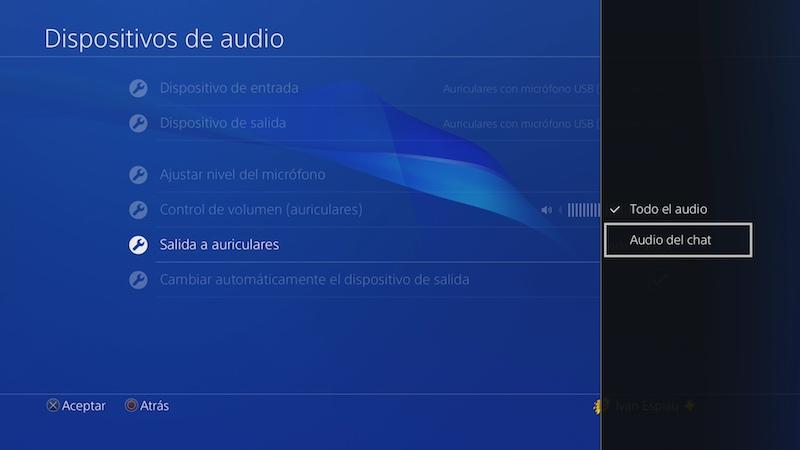 ps4 avantree leaf configuración chat