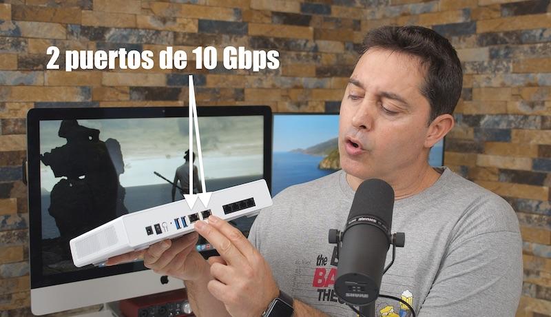 puertos 10GbE QHora-301W