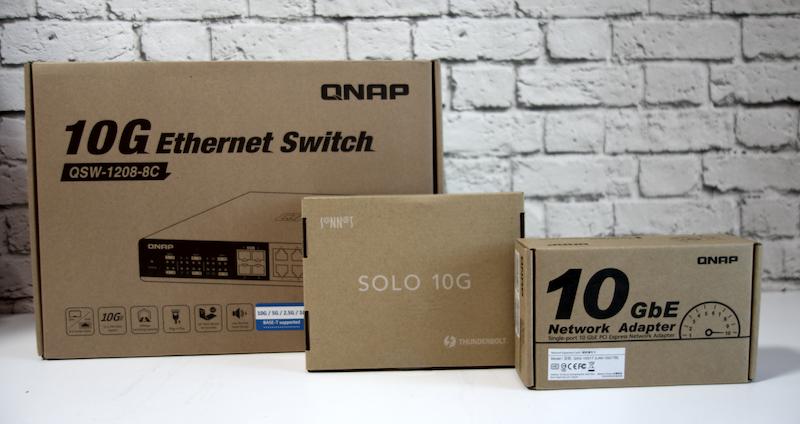 red 10 Gbps Unboxing tarjeta 10G de QNAP