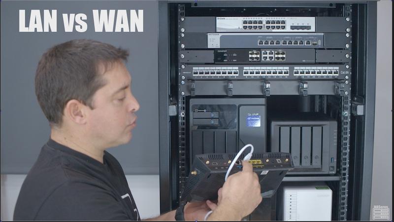 diferencias entre la red interna (LAN) y red externa (WAN)