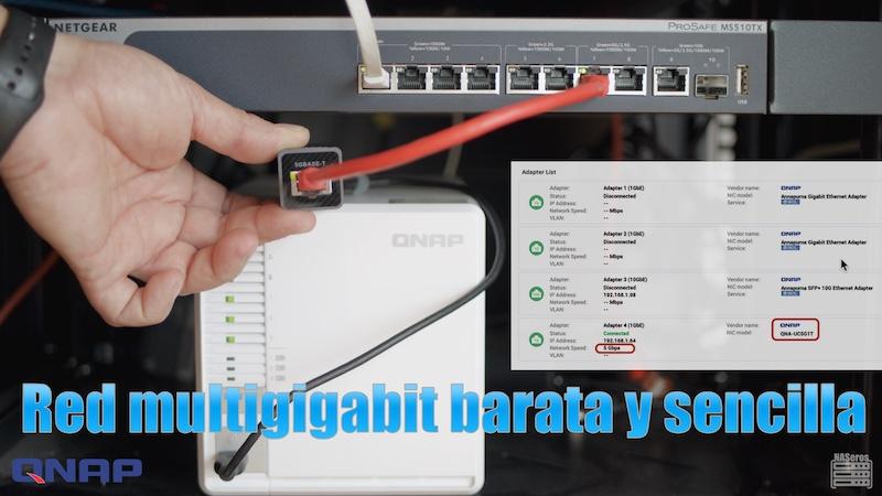 red multigigabit barata y sencilla con QNA de QNAP