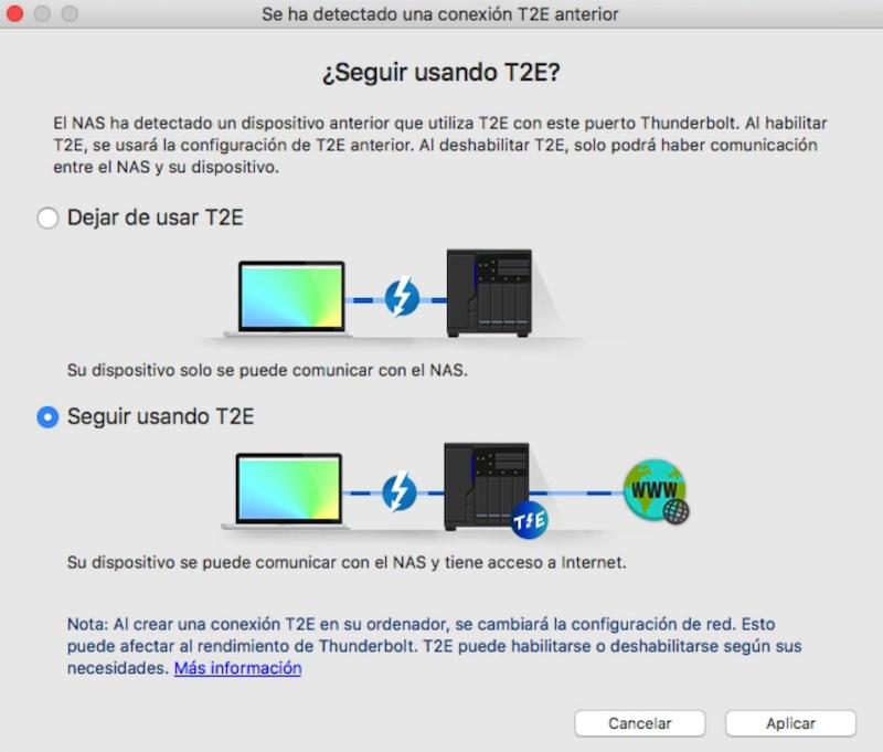 rendimiento Thunderbolt del TS 453BT3 T2E