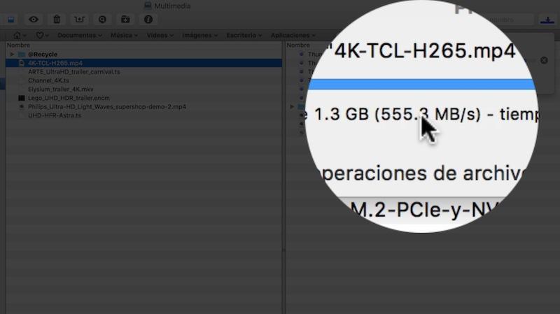 rendimiento Thunderbolt del TS-453BT3-descarga-directa