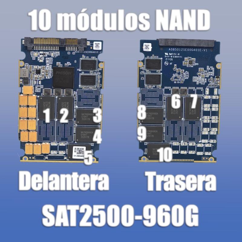 synology sat5200 960GB número módulos nand