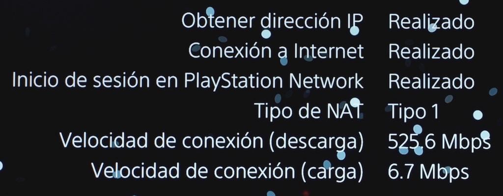 test NAT 1 en Playstation