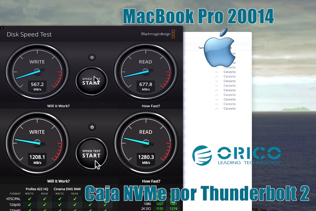 test Thunderbolt 2 a Thunderbolt 3 macbook pro 2014