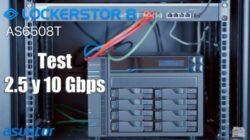test de velocidad de 10Gbps del Lockerstor 8 AS6508T de Asustor
