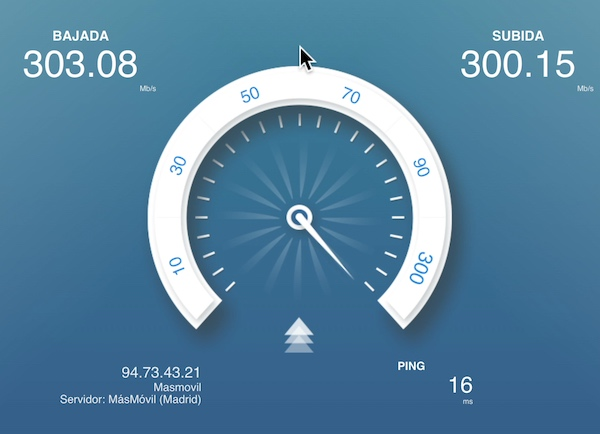 test velocidad Fritzbox 5491