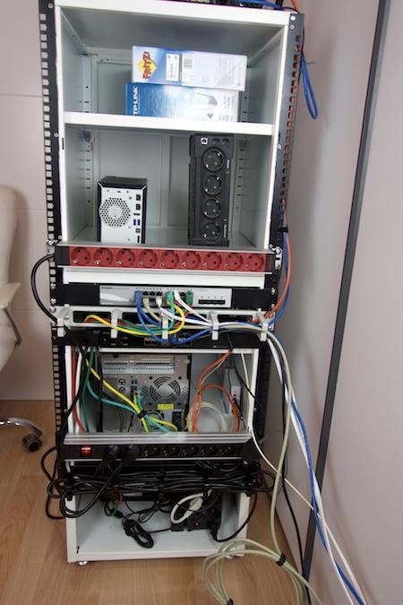 trasera rack casero para servidores