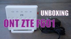 unboxing ont zte F601