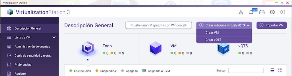 vQTS en Virtual Station